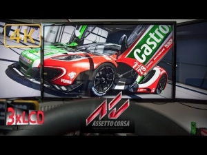 Assetto Corsa GT3 race Nurb GP Triple Screen in Ultra 4K onboard