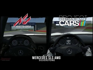 Project CARS Vs Assetto Corsa - Mercedes SLS AMG @ Silverstone