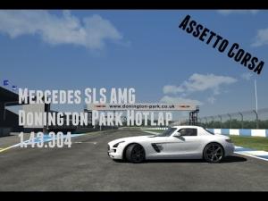 Assetto Corsa - Mercedes-Benz SLS AMG - Hotlap - Donington Park (1.43.304)