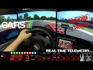 Project Cars - Radical @ Zolder - Real Time Telemetry (GoPro, Triple Screen)