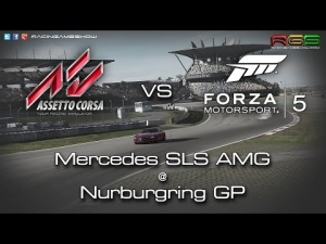 Assetto Corsa vs Forza 5 | Merc SLS AMG | Nurburgring | Sim Comparison | PC vs Console