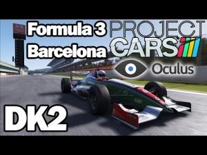 Oculus Rift DK2 - Project CARS - Formula 3 @ Barcelona GP