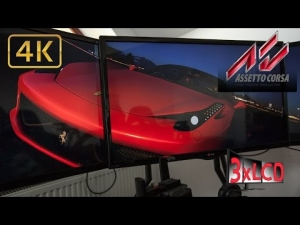 Assetto Corsa Ferrari 458 eats Fiats 500's Triple Screen in Ultra 4K onboard