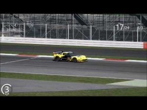 Assetto Corsa Corvette c6r Rolling Thunder 24 Car Grid