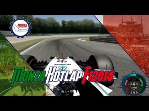 F1 2014 Monza Hotlap Assetto Corsa L.Hamilton Onboard [Default Settings]