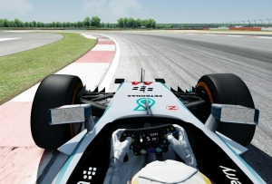 Hotlap on Silverstone GP Circuit using Mercedes-Benz W05