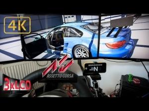 Assetto Corsa   GT2 class race Nurb GP   Triple Screen in Ultra 4K onboard
