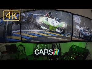 Project CARS | simracing in fisheye | BAC Mono at rainy LeMans | Ultra 4K triple