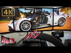 Assetto Corsa | Pagani eat full grid Ferrari's at Mugello | Triple Screen in Ultra 4K onboard