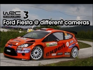 WRC 3 - Ford Fiesta @ different cameras