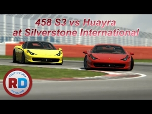 Assetto Corsa MP - 458 S3 vs Huayra at Silverstone International [Racedepartment]