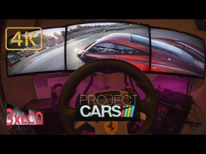 Project CARS | simracing in fisheye | McLaren MP4 at Sakitto | Ultra 4K triple