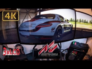 Assetto Corsa | *NEW* track Nurb Short with SLS | Triple Screen in Ultra 4K onboard
