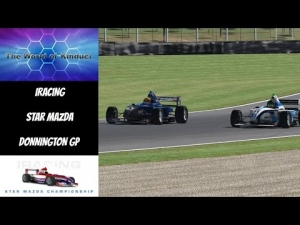 iRacing Star Mazda Official race at Donnington GP - Good fun race to start the week!