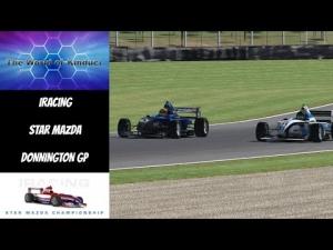 iRacing Star Mazda Official race at Donnington GP - Good fun race to start the week!
