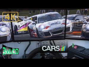 Project CARS | Porsche SuperCup at Monza | 4 different weather | Triple Screen in Ultra 4K rig