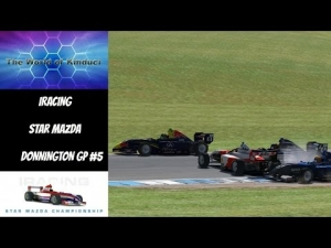 iRacing Official Star Mazda series at Donnington GP - 12th to 2nd