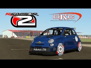 rFactor 2 [HD++] ★ Abarth 500 Assetto Corse @ Dallas Karting Complex