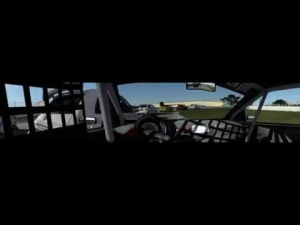 rFactor2 - Abarth 500 - 2 laps @ Sebring Club - Triple Screens