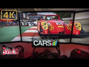 Project CARS   Radical SR-8 RX at Zolder   beautiful sunset   Triple Screen in Ultra 4K rig