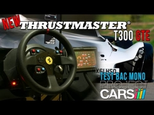 New Thrustmaster T300 GTE (Ps3-PS4-Pc) Test Project Cars Bac Mono @ Laguna Seca