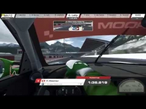 R3E RUF RT12R race with the A.I. at Raceroom Raceway with Xbox controller