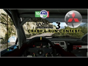 WRC 3 - Mitsubishi Lancer EVO IX - Mexico - Crash & Run Contest