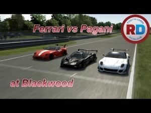 Assetto Corsa MP - 599XX vs Zonda R at Blackwood [Racedepartment]