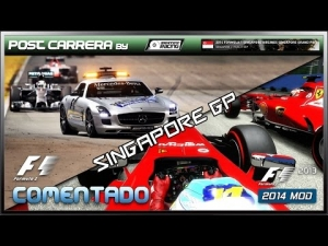 F1 2013 Gameplay (2014 Singapore GP | Post Carrera by ADRIANF1esp | Comentado)