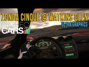 Project CARS Ultra Graphics - Onboard Zonda Zinque @ Watkins Glen