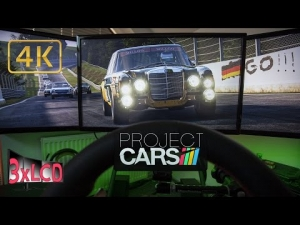 Project CARS | rainy race at Ring full damage | Ultra 4K Triple LCD