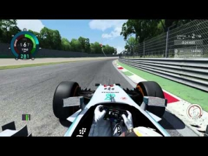 Lap on Monza using Mercedes W05 on Assetto Corsa (1:31.765)