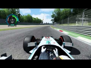 Lap on Monza with Mercedes W05 (Bonnet View) on Assetto Corsa - 1:29.213