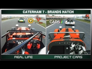 Project CARS vs Real Life - Caterham 7 (Race) @ Brands Hatch