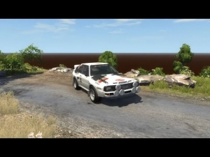 BeamNG Rally Test Audi Quattro S + Crash