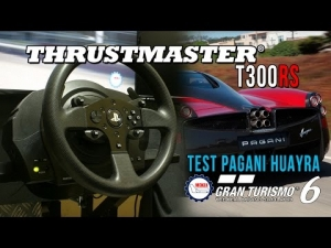 New Thrustmaster T300 Rs (Ps3-PS4-Pc) Test GT6 Pagani Huayra @ Monza