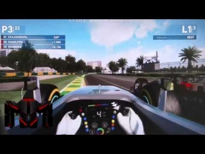 F1 2014 Gameplay - Melbourne 3 Lap Race - Lewis Hamilton Onboard - (F1 2014 Game)
