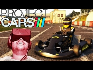 Oculus Rift DK2 - Project CARS - Kart Experience @ SPA Karting Track