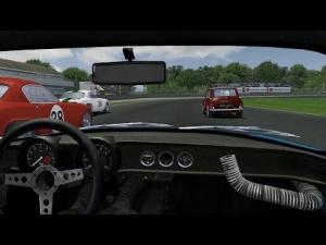 GTR2: Alpine Vs Mini Cooper Vs Lotus Elite - Online Battle at Donington [Power & Glory V3.1]