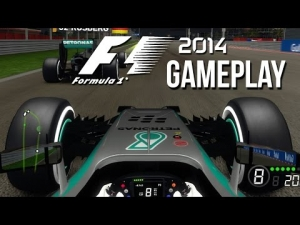 F1 2014 Gamplay - Night Time Bahrain 25% Race 14 Laps