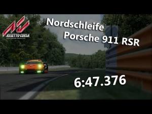 Assetto Corsa - Hotlap Nordschleife Porsche 911 RSR 6:47.376
