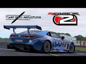 rFactor 2 [HD++] ★ Chevrolet Camaro GT3 @ Tiger Moth Aerodrome Test Track
