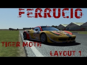 rFactor2 - Ferrucio @ Tiger Moth Aerodrome Layout 1 - with Spotter