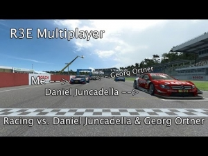 R3E Multiplayer - Racing vs. Daniel Juncadella & Georg Ortner | DTM Experience