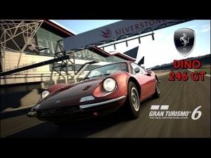 Gran Turismo 6 - Ferrari Dino 246 GT ' 71 @ Silverstone Grand Prix Circuit