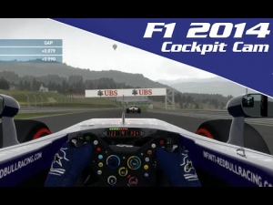 F1 2014 Gameplay:- 3 Lap Race At Austria With Cockpit Cam | Legend AI