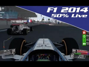 F1 2014 Gameplay:- 50% Race Russian Grand Prix Live Commentary