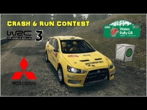 WRC 3 - Mitsubishi Lancer EVO X - Gales GB - Crash & Run Contest