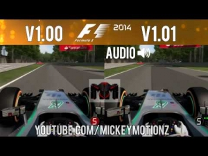 F1 2014 Gameplay - Patch Comparison 1.01 v 1.00 - NEW Mercedes V6 Engine Sound