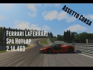 Assetto Corsa - Ferrari LaFerrari - Hotlap - Spa Francorchamps (2.14.463)